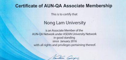 Trường Đại học Nông Lâm Tp.HCM được công nhận thành viên liên kết của tổ chức AUN