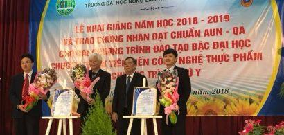Trường Đại học Nông Lâm TP.HCM nhận chứng nhận của tổ chức AUN-QA