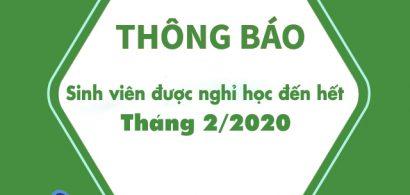 Thông báo về việc dời lịch học đến ngày 02/03/2020 để phòng tránh dịch bệnh viêm đường hô hấp cấp do Covid-19 gây ra