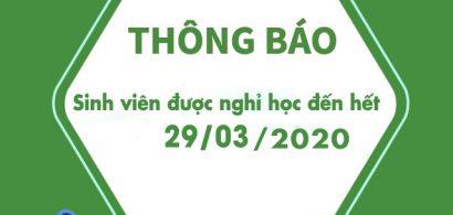 Thông báo về việc dời lịch học đến ngày 30/03/2020 để phòng tránh dịch bệnh viêm đường hô hấp cấp do Covid-19 gây ra