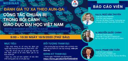 Chương trình Webinar Đánh giá từ xa theo AUN-QA: Công tác chuẩn bị trong bối cảnh giáo dục đại học Việt Nam