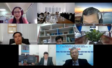 """Hội thảo trực tuyến """"Công tác bảo đảm chất lượng giáo dục đại học trong tình hình mới"""""""