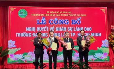 Lễ công bố Nghị quyết về nhân sự lãnh đạo Trường Đại học Nông Lâm TPHCM
